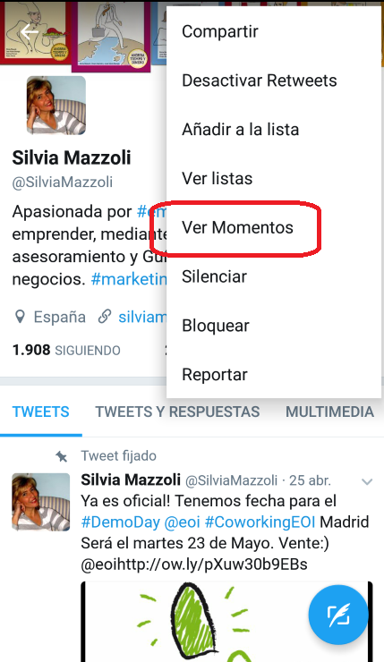 momentos twitter movil